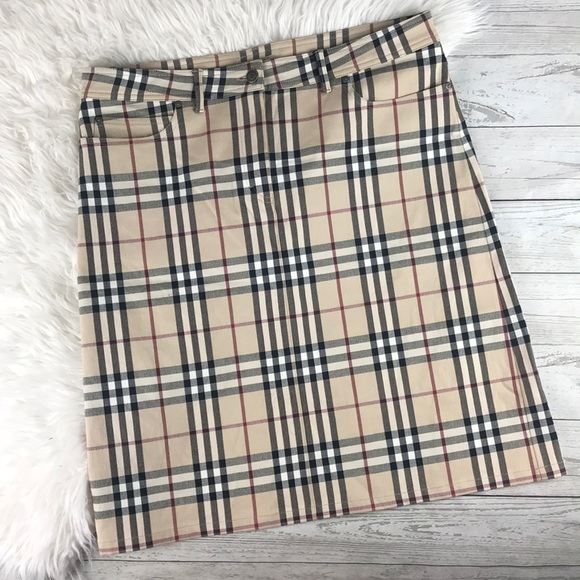 2ddc9a6323 Burberry Dresses & Skirts - Burberry London Wool Classic Plaid Midi Skirt 12